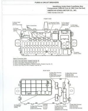 1993 Accord Ex 4dr under dash fuse diagram  HondaTech