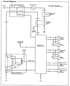 94 accord radio wiring diagram cant find the right one  HondaTech  Honda Forum Discussion