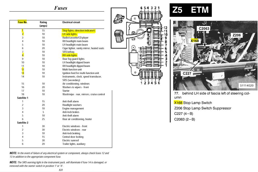 headlight wiring diagram 01 land rover