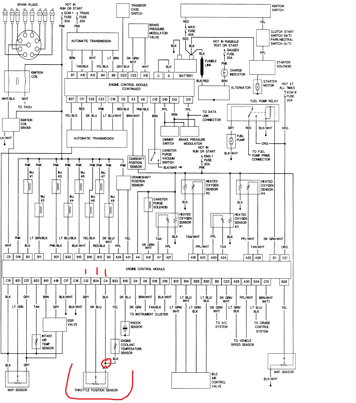 hight resolution of here s the specific diagram for my vehicle from autozone