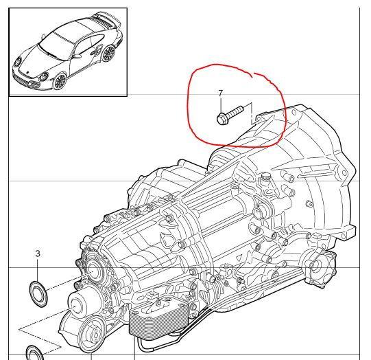 997.2 (maybe .1?) Engine/Transmission bolt part number