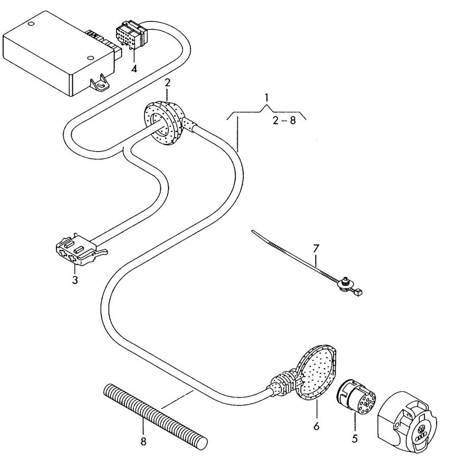 Q7 trailer wire harness: why is cost ridiculous