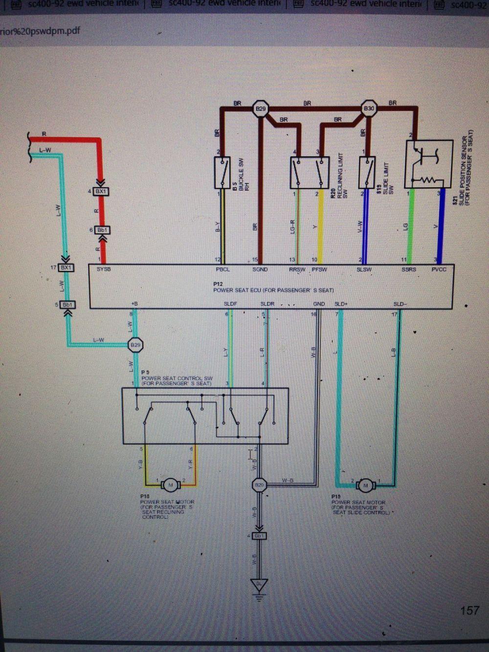 medium resolution of power seat wiring diagram 92 lexus sc 300 wiring todaypower seat wiring diagram 92 lexus sc