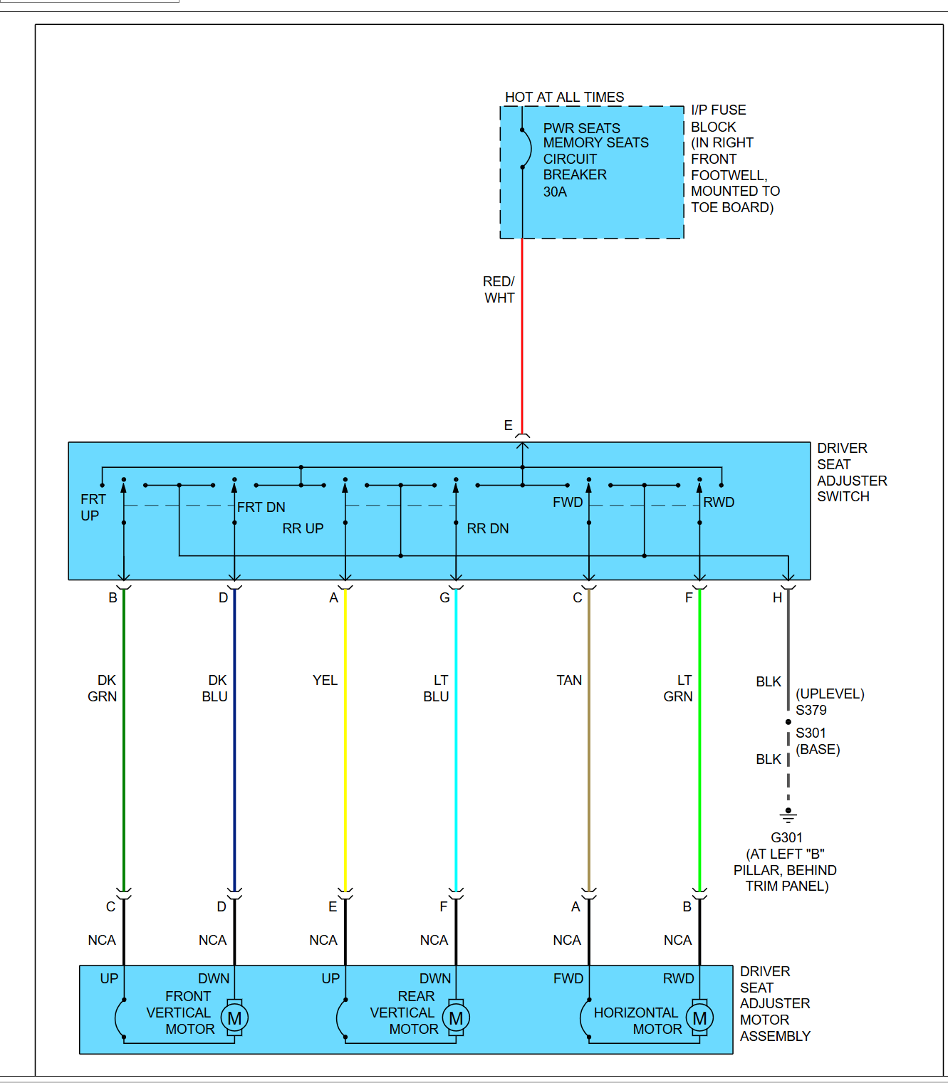 hight resolution of c6 electrical seat wiring diagram