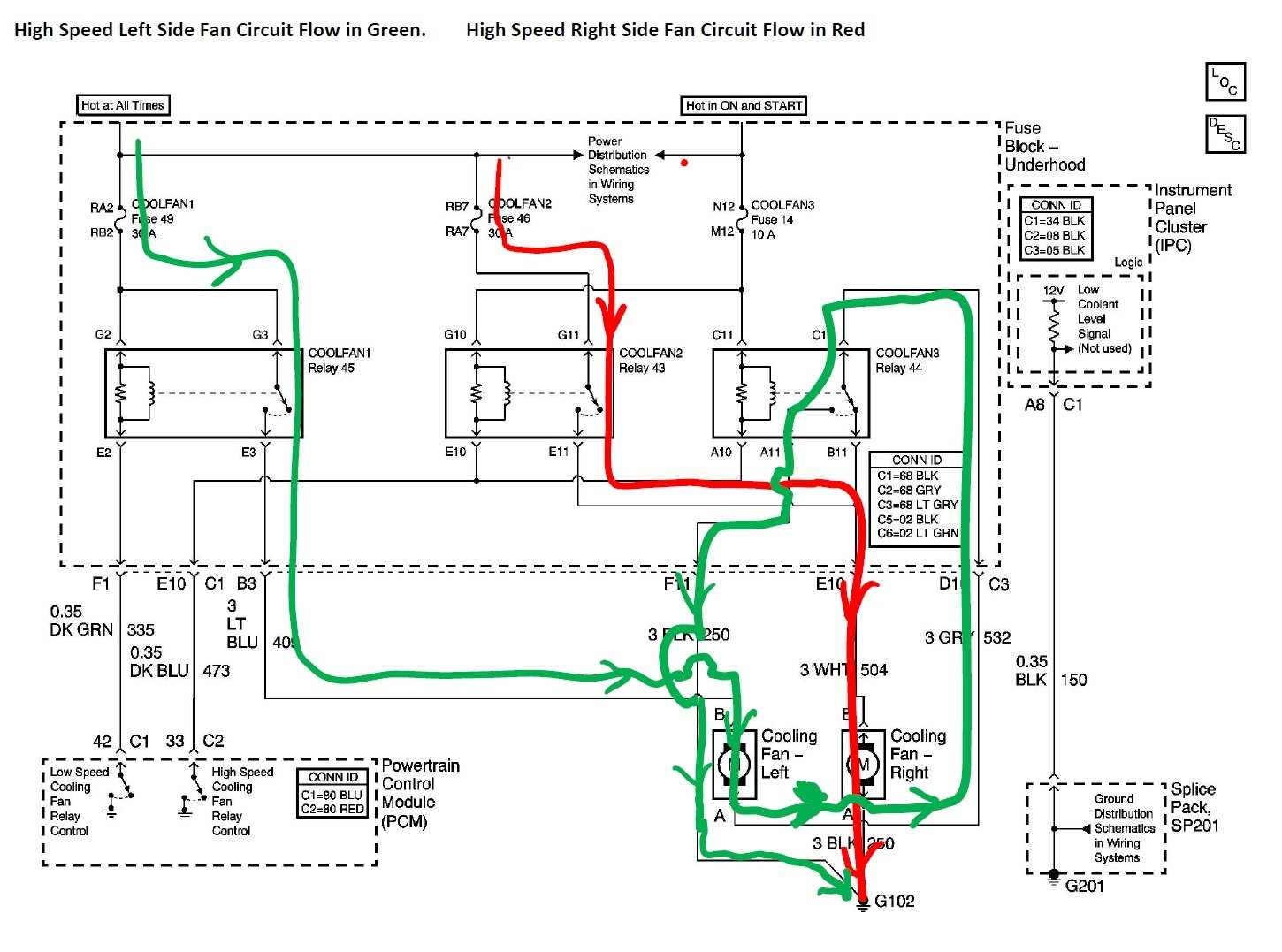 hight resolution of cooling fan relays corvetteforum chevrolet corvette forum discussion c5 corvette electric fan relay wiring diagram