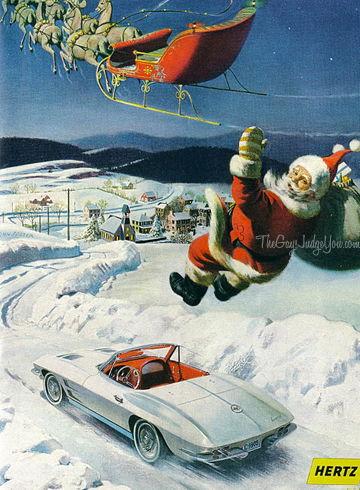 Photos Of Vettes With A Christmas ThemeSanta
