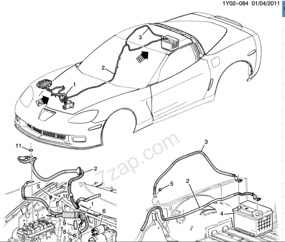 Picture needed of Z06 / Dry Sump Positive Battery Cable