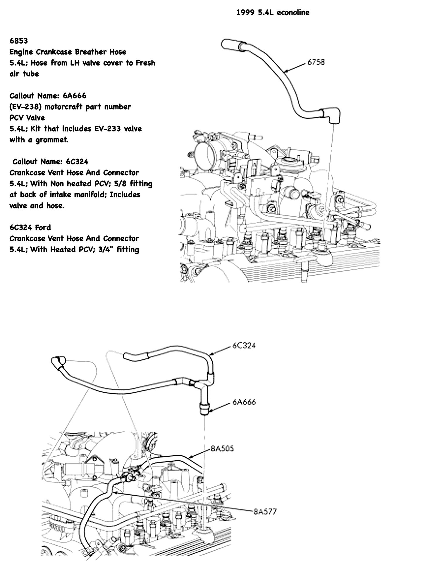 Pcv Valve Location Ford 5 4l 2004 F150 PCV Valve Location