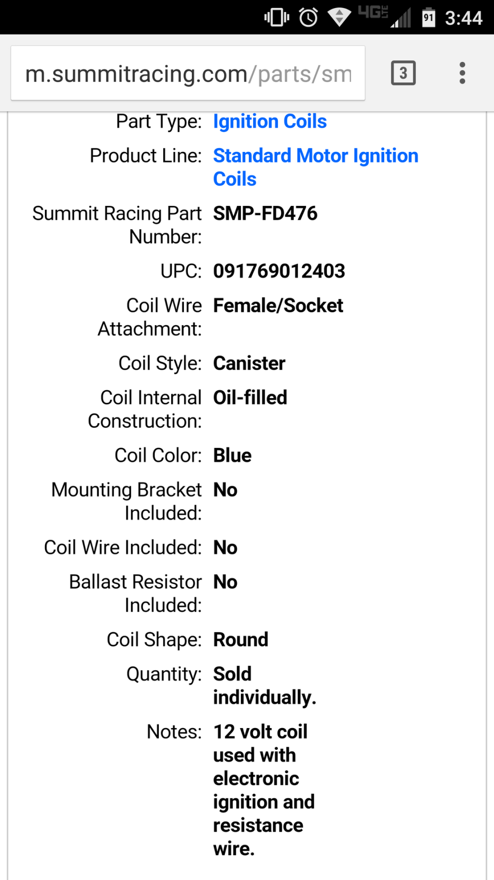 medium resolution of i attached a screen shot of the painless wiring instructions and an example of the coil info for the one that i bought they both talk about the need for a