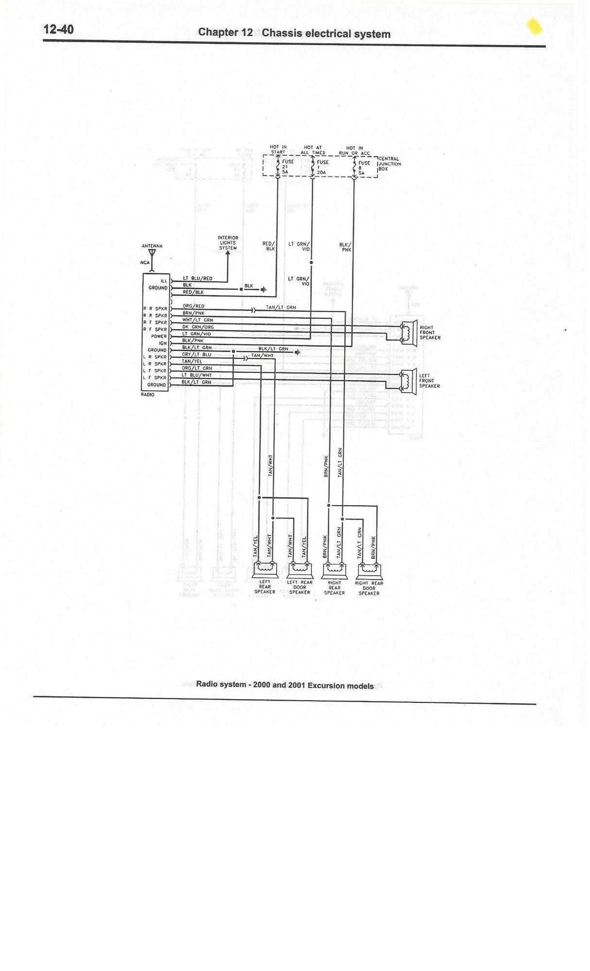 hight resolution of radio system 00 01 excursion
