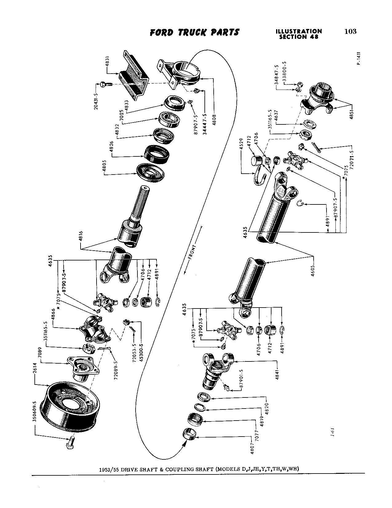 53 F250 Hanger Bearing