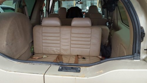 small resolution of 2004 ford excursion with pueblo gold exterior matching 4th row seat