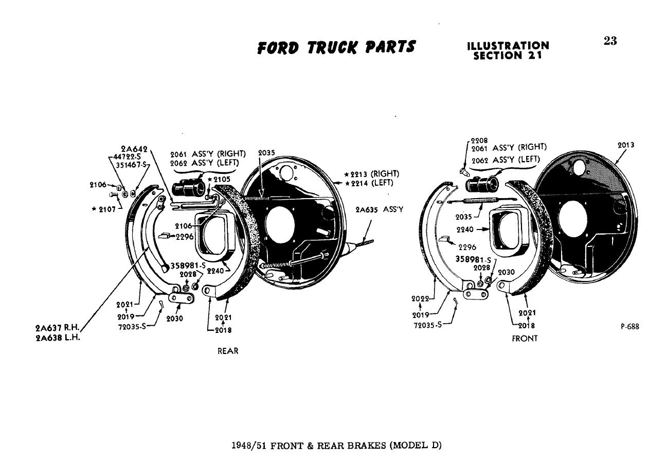 Ford F2 Misc Parts