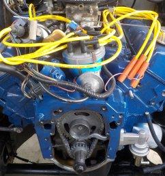 351m 400 gates 43041 water pump and alternator bracket clearance issue problem  [ 2000 x 1501 Pixel ]