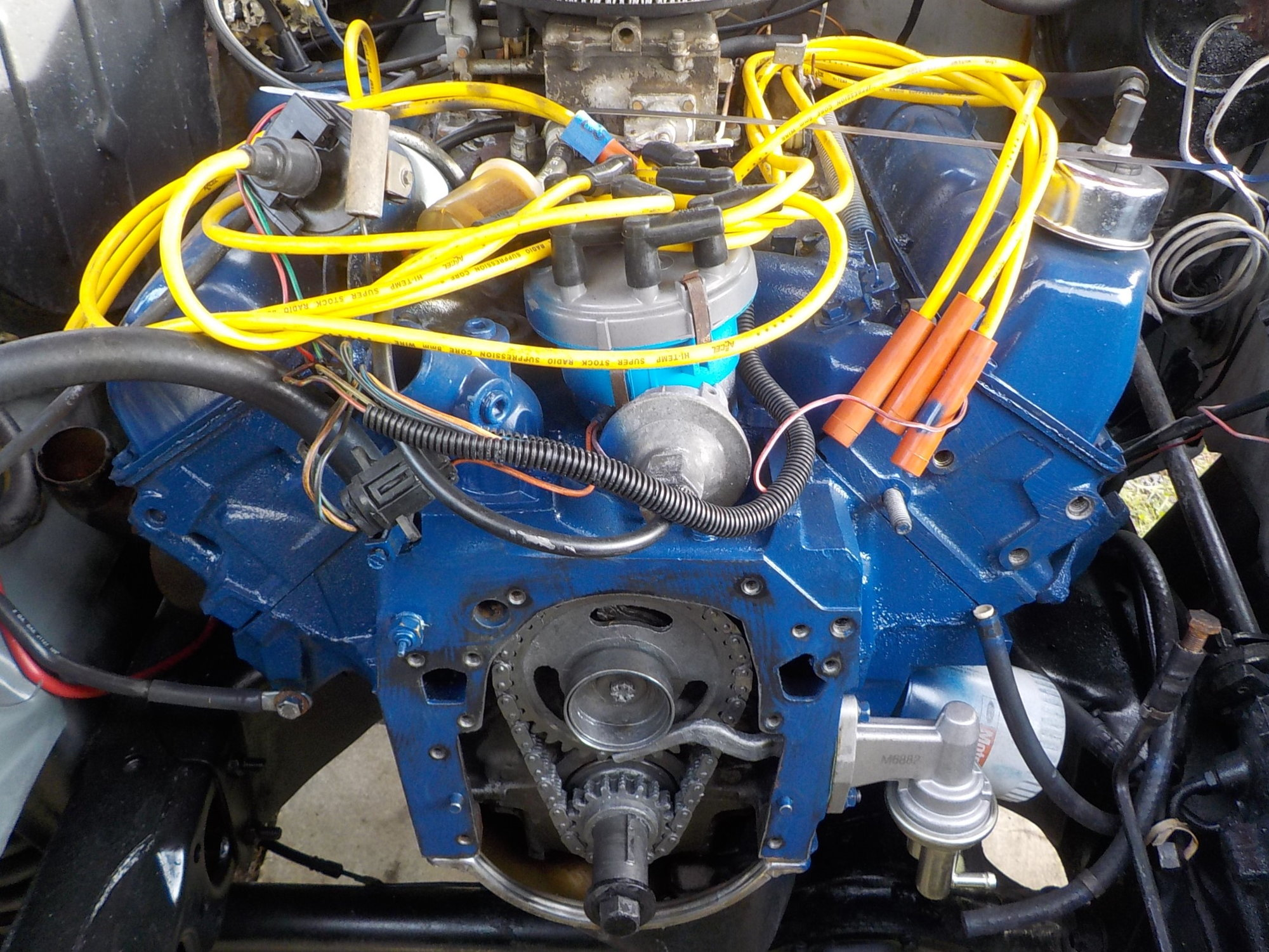 hight resolution of 351m 400 gates 43041 water pump and alternator bracket clearance issue problem