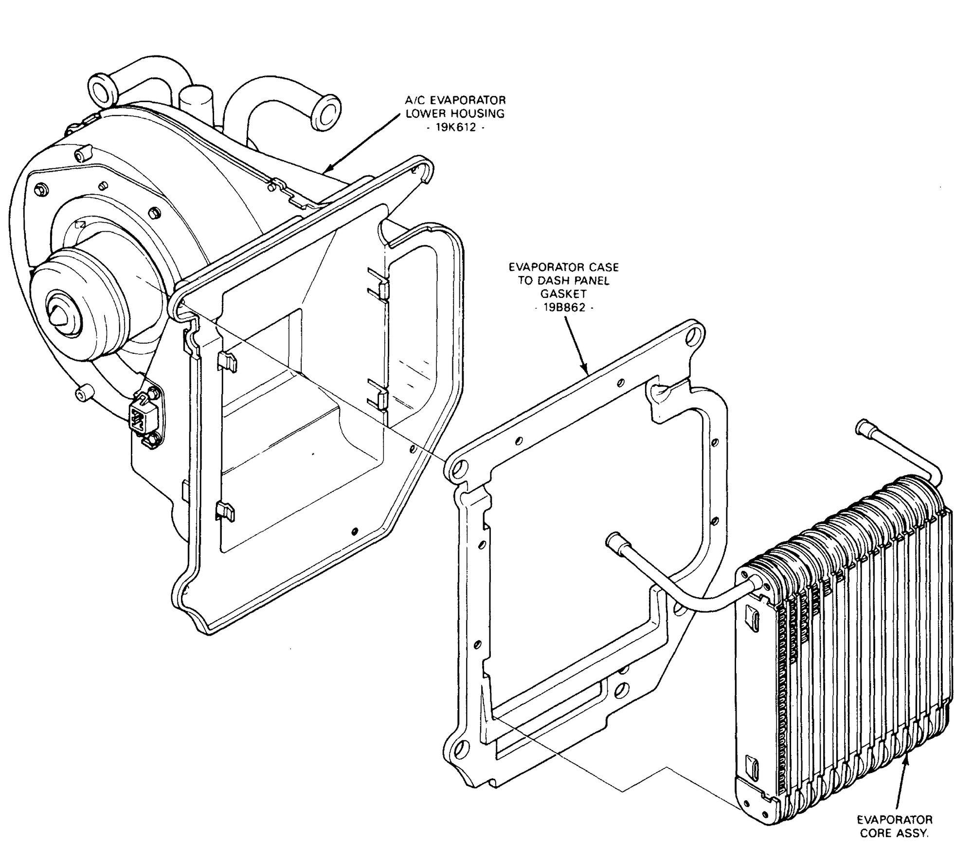 A C Evaporator Core On A E350