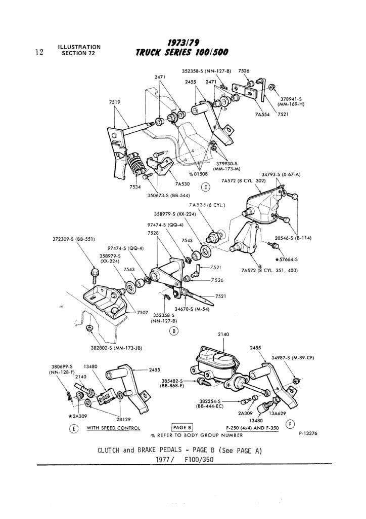 F350 1979 460 np435 tranny return spring clutch fork
