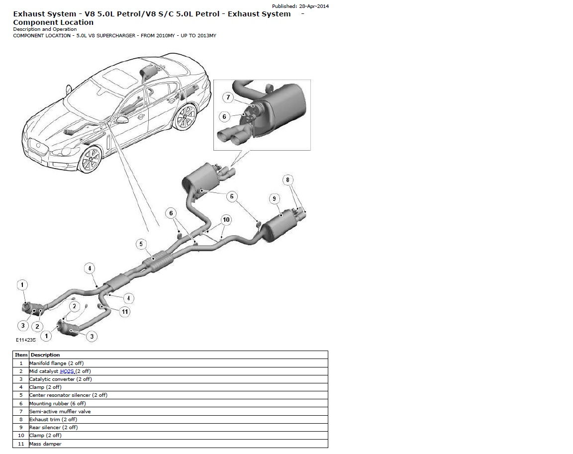 hight resolution of 5 0 n a exhaust system jaguar forums jaguar enthusiasts forum jaguar xf exhaust system diagram