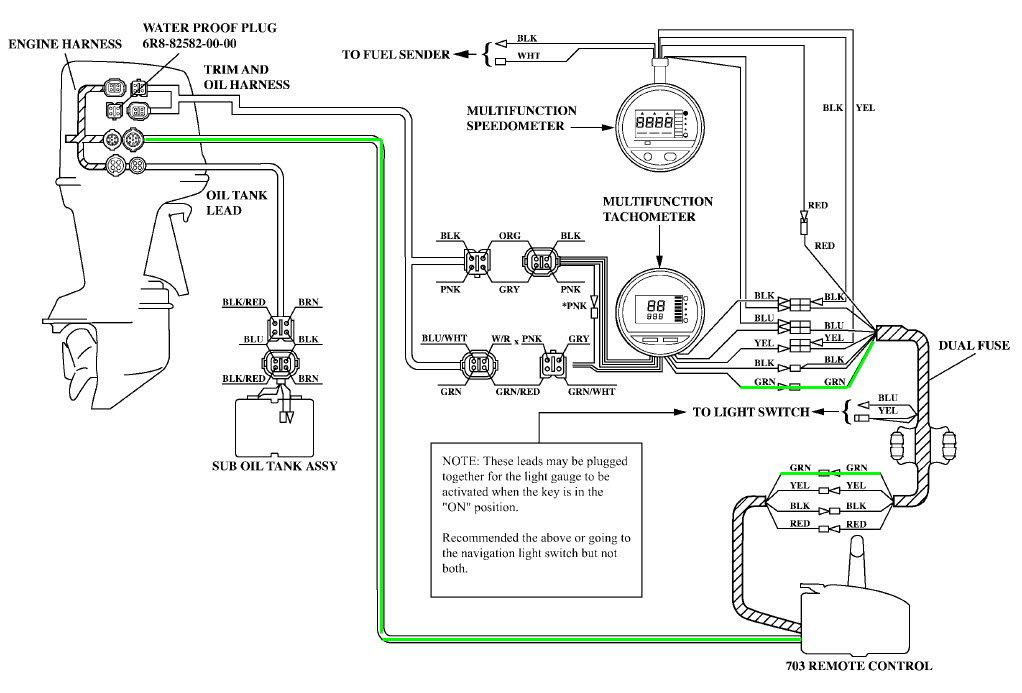 Yamaha 2 stroke 115 TRXY tach signal question and temp