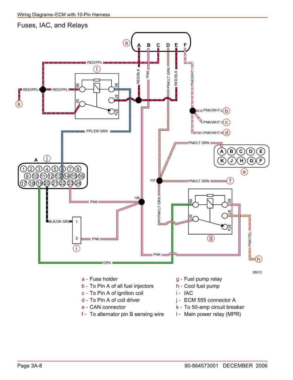 medium resolution of here are the diagrams showing both note the pink wire coming from connector a pin 23 that is the 12v feed to the ecm