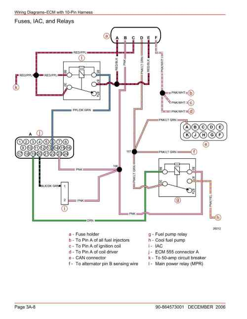 small resolution of here are the diagrams showing both note the pink wire coming from connector a pin 23 that is the 12v feed to the ecm