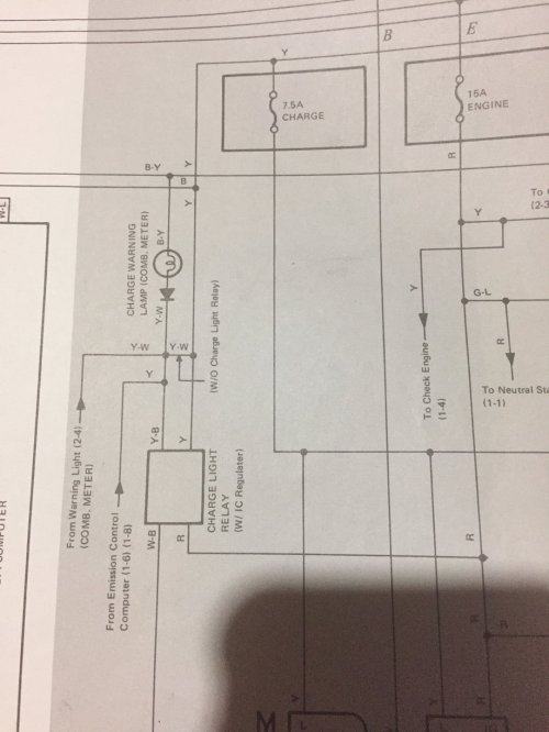small resolution of  the drivers side fender to the regulator where it thens goes to the alternator so i believe it s correct here s the continued section of the schematic