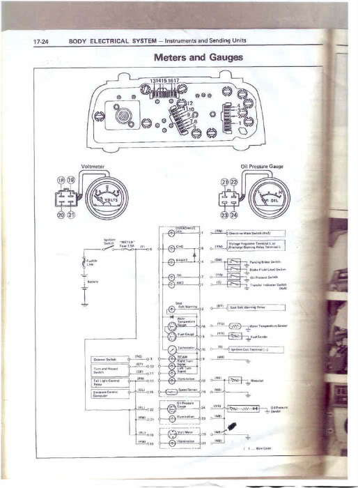 i need 1981 wiring diagram for the cluster please  yotatech