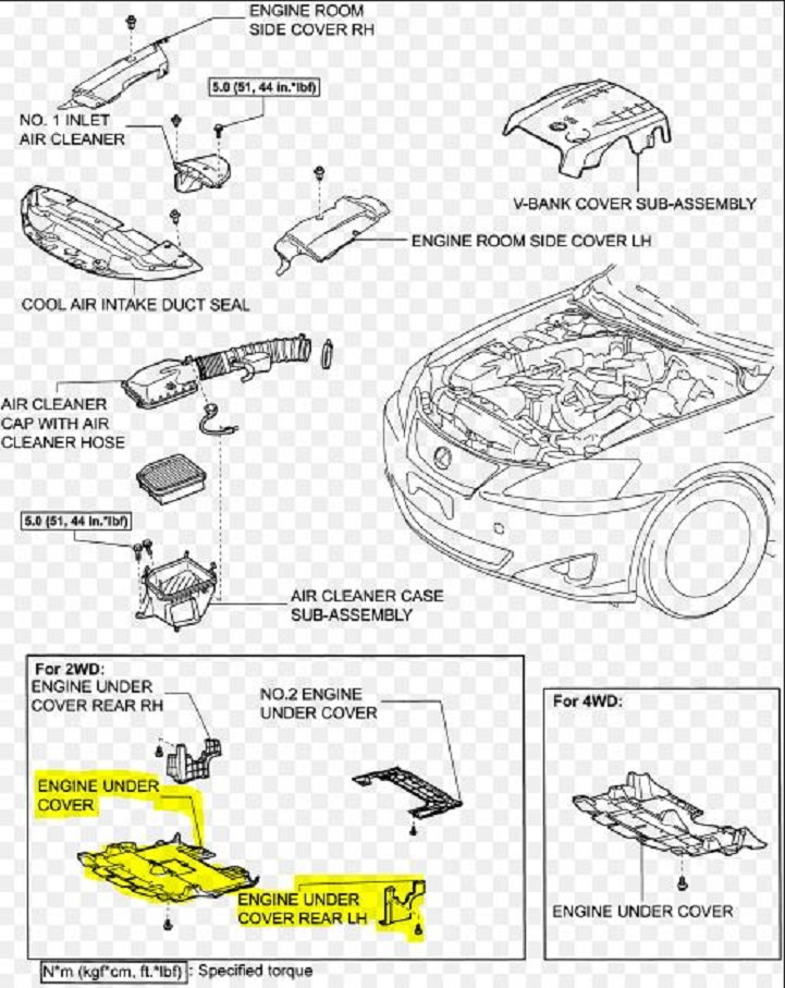 2008 Lexus Es 350 Engine Covers Diagram 2005 Lexus RX 330