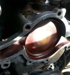 scrape and clean before installing the new water pump  [ 1600 x 1200 Pixel ]