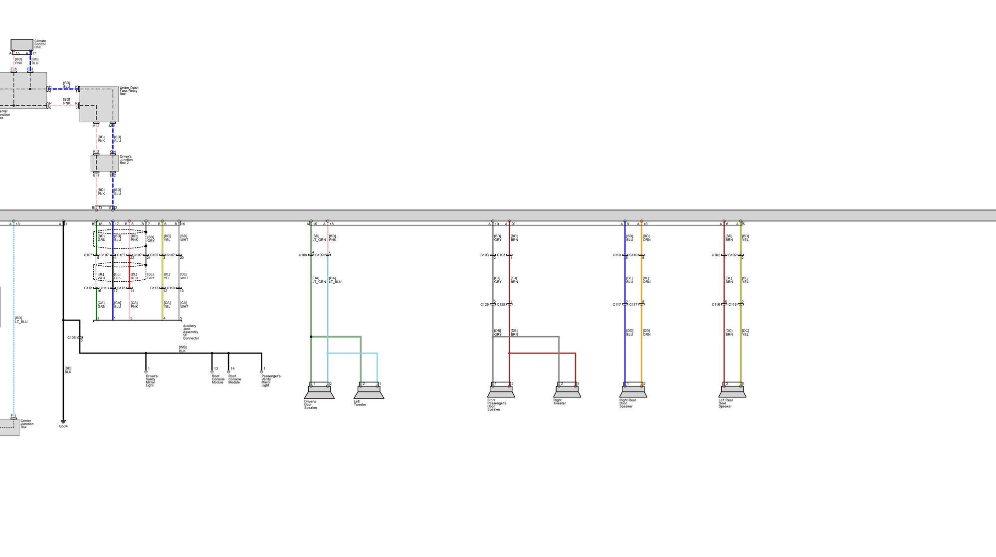 Acura Speaker Wiring Diagram