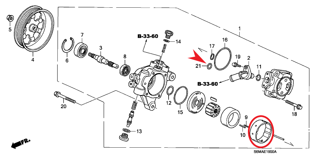 Can anyone tell me where this Power Steering O-Ring is