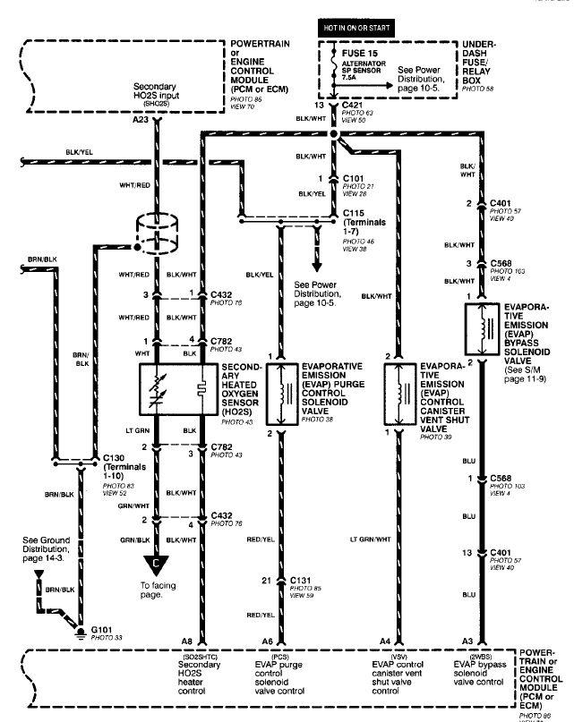 2001 Honda Civic O2 Sensor Wiring Diagram : 41 Wiring