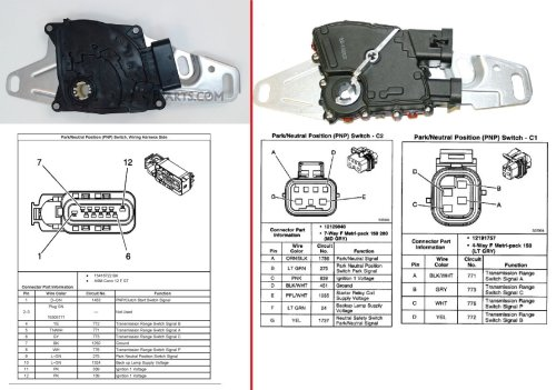 small resolution of 4l60e park neutral switch types compatible ls1tech camaro gm park neutral switch diagram