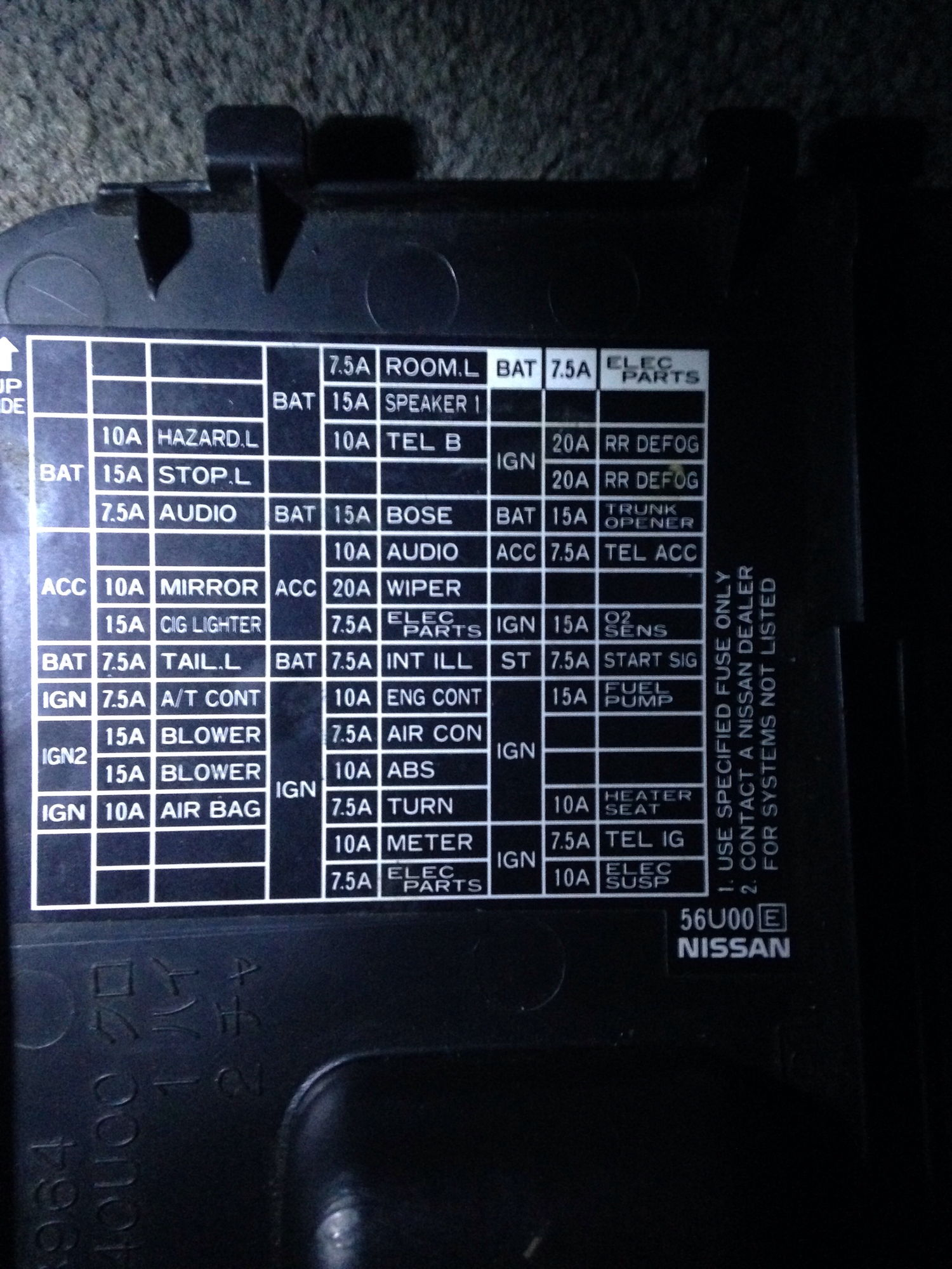 hight resolution of i look at the interior fuse box and the fuses and diagram don t match