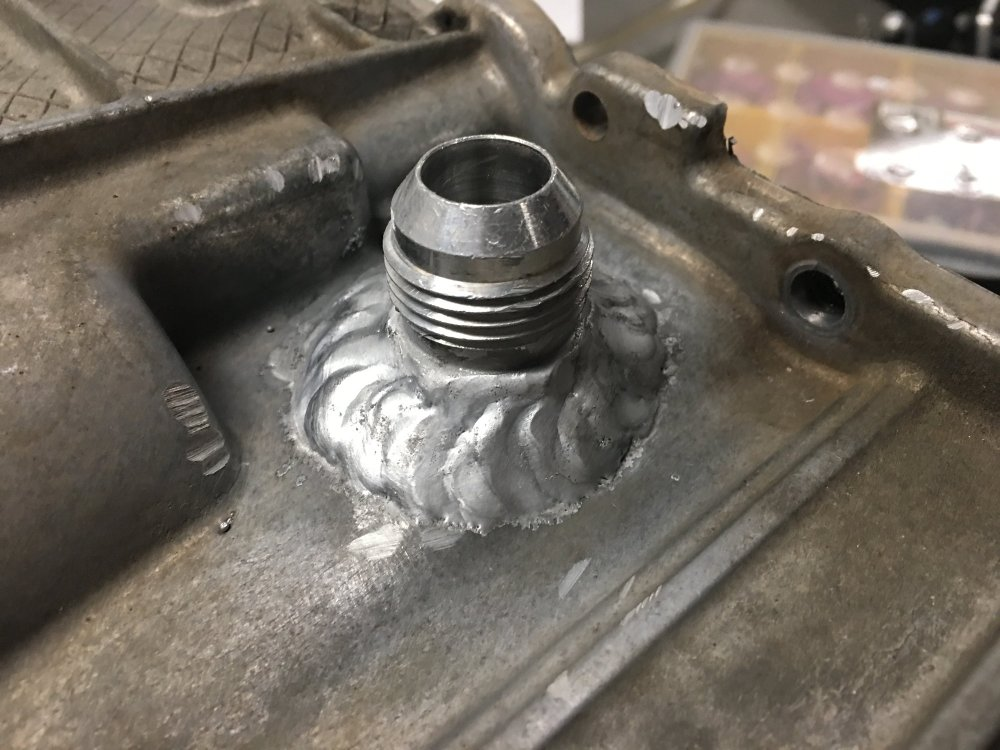medium resolution of and just to show the op it can be done one can put a weld on the stock around the oil pressure sensor
