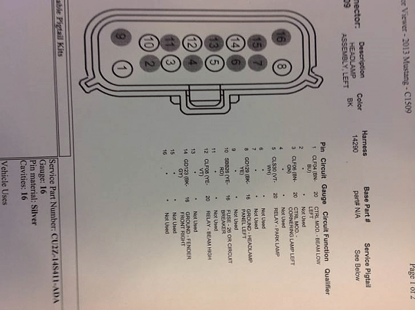 Signal Wiring Diagram On 99 Ford Mustang Headlight Wiring Diagram