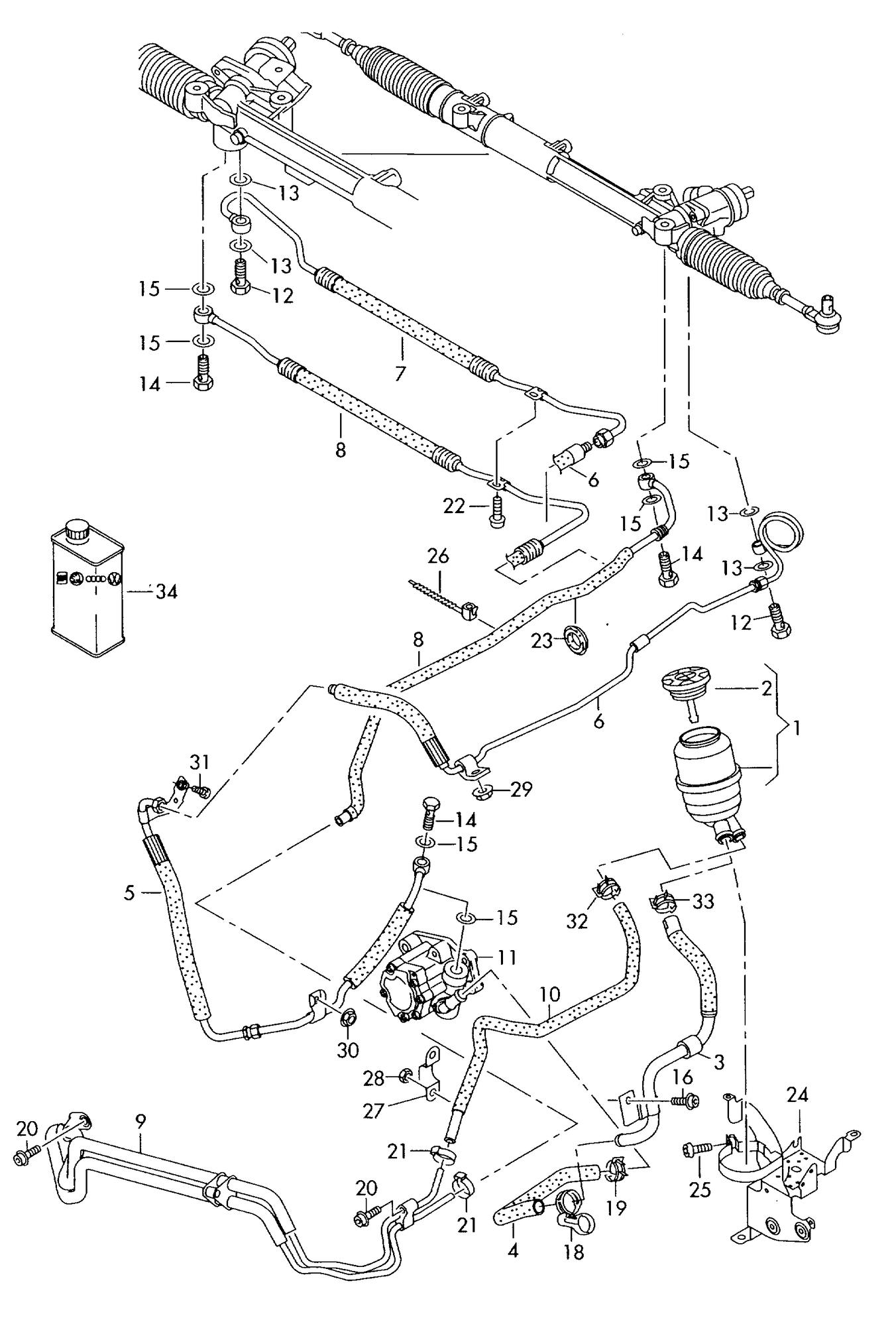 Power Steering Hose Atf Cooler Line