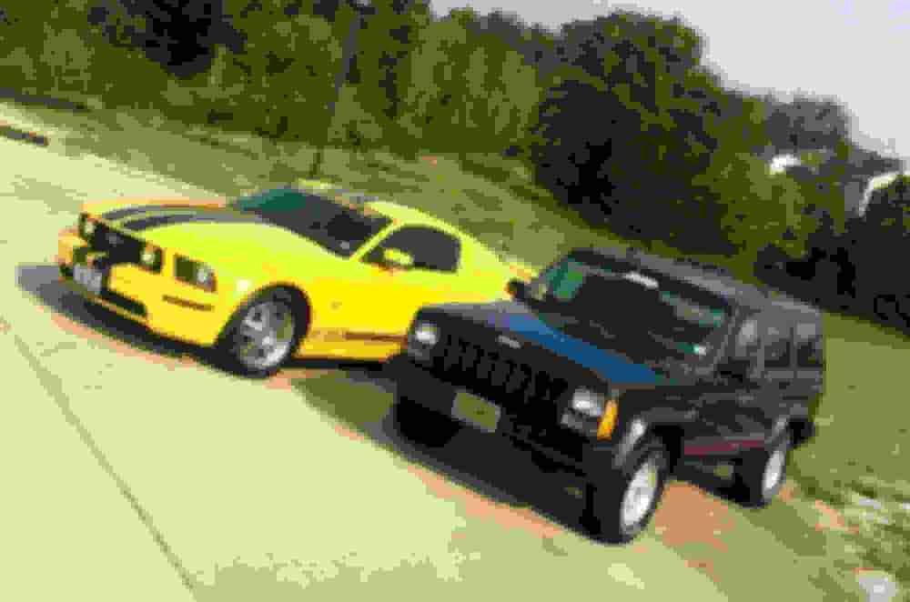 medium resolution of my 2005 mustang gt is my beauty so i guess that makes my 1994 jeep cherokee the beast so i got the jeep back up and running after blowing the