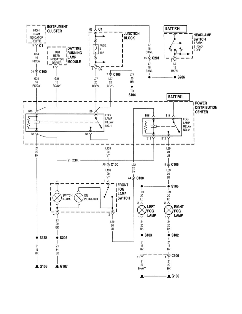 hight resolution of auxiliary lights wiring for jeep schematic diagrams jeep cherokee wiring diagram jeep cherokee fog light wiring
