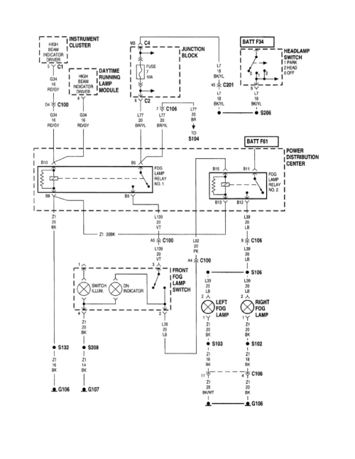 small resolution of auxiliary lights wiring for jeep schematic diagrams jeep cherokee wiring diagram jeep cherokee fog light wiring