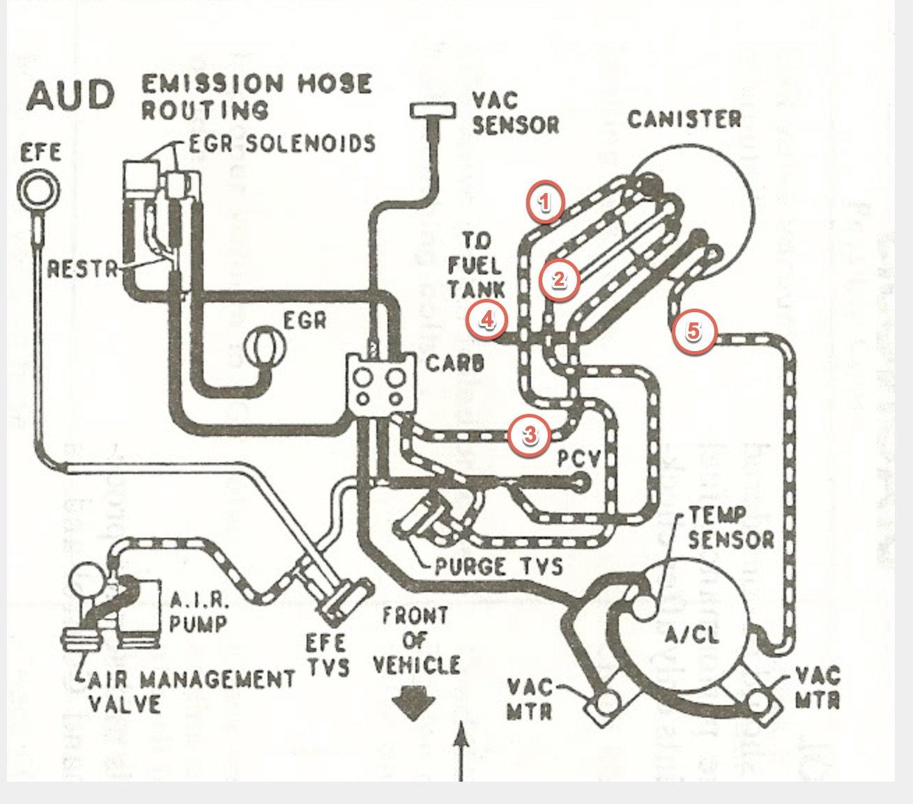 Corvette Carburetor Vacuum Diagram
