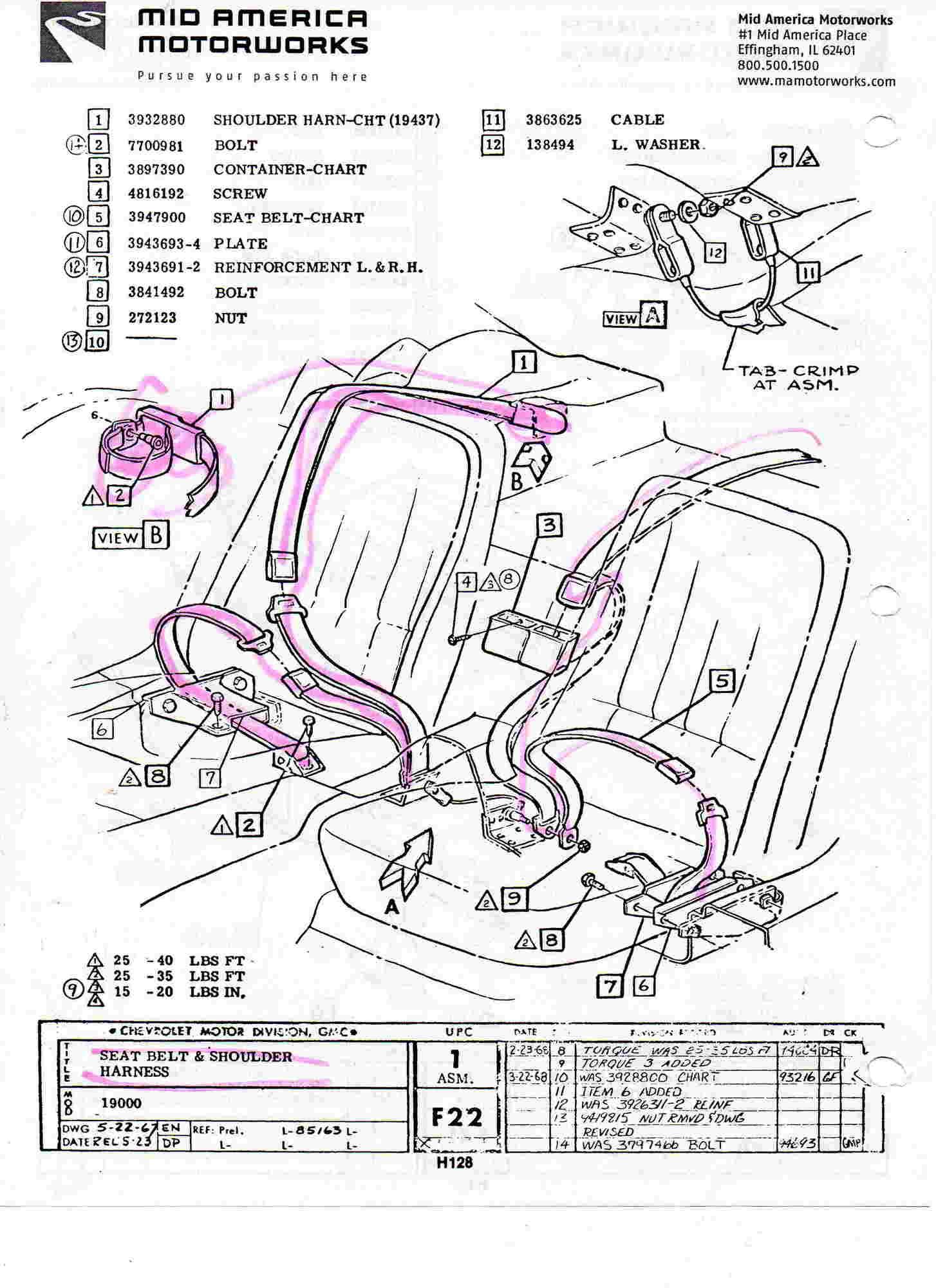 What a dumb question, 1969 seat belt bolt location