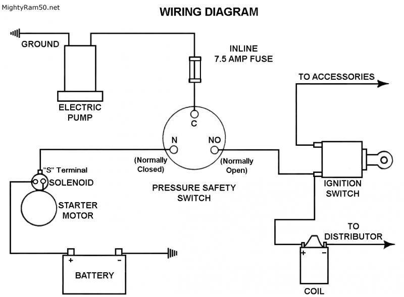Oil Pressure Switch Wiring Diagram Oil Pressure Switch Schematic