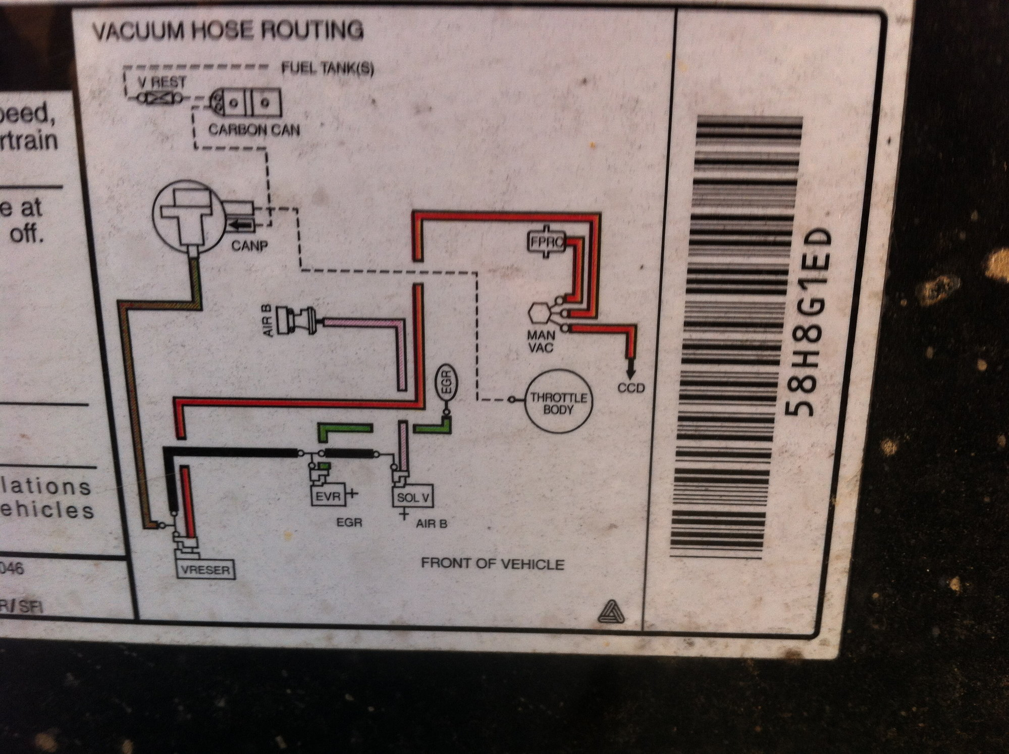 Ignition Wiring Diagram Together With Engine Vacuum Line Diagram