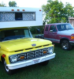 the 1964 camper and the 1989 f250 i pulled the 460 efi from [ 1200 x 900 Pixel ]