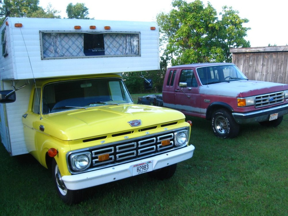 medium resolution of the 1964 camper and the 1989 f250 i pulled the 460 efi from