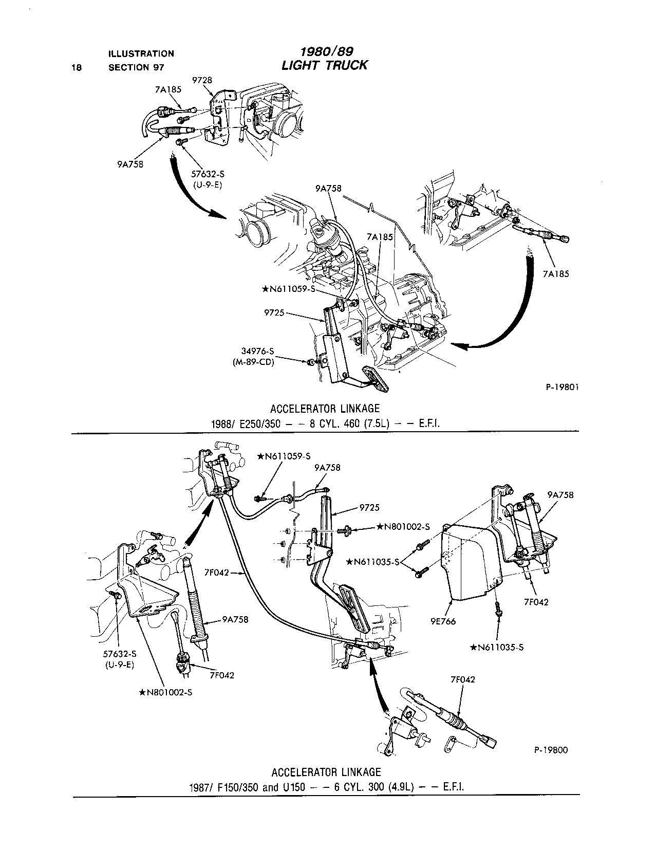 Ford F150 89' 4.9L manual Trans. Throttle return spring
