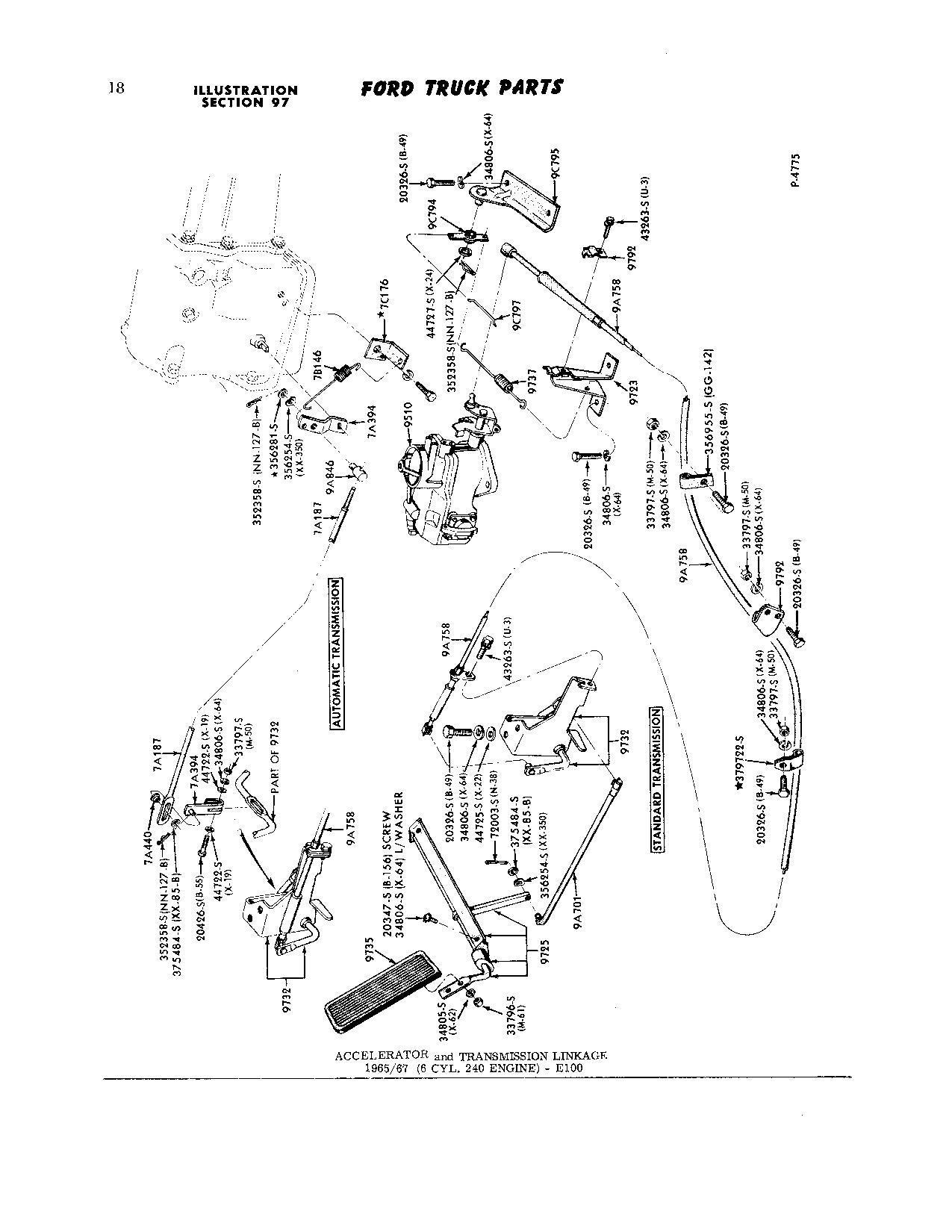 Throttle Linkage Diagram/photo request 68 240 CID F-100
