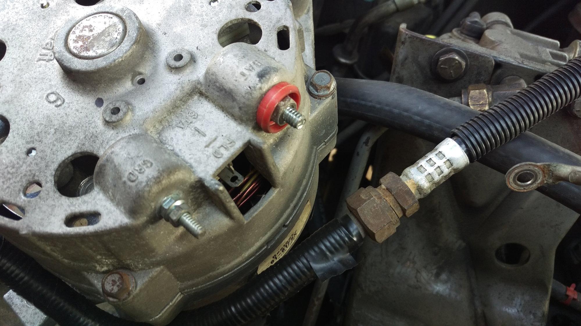 One Wire Alternator Wiring Also Ford 3g Alternator Wiring Diagram On