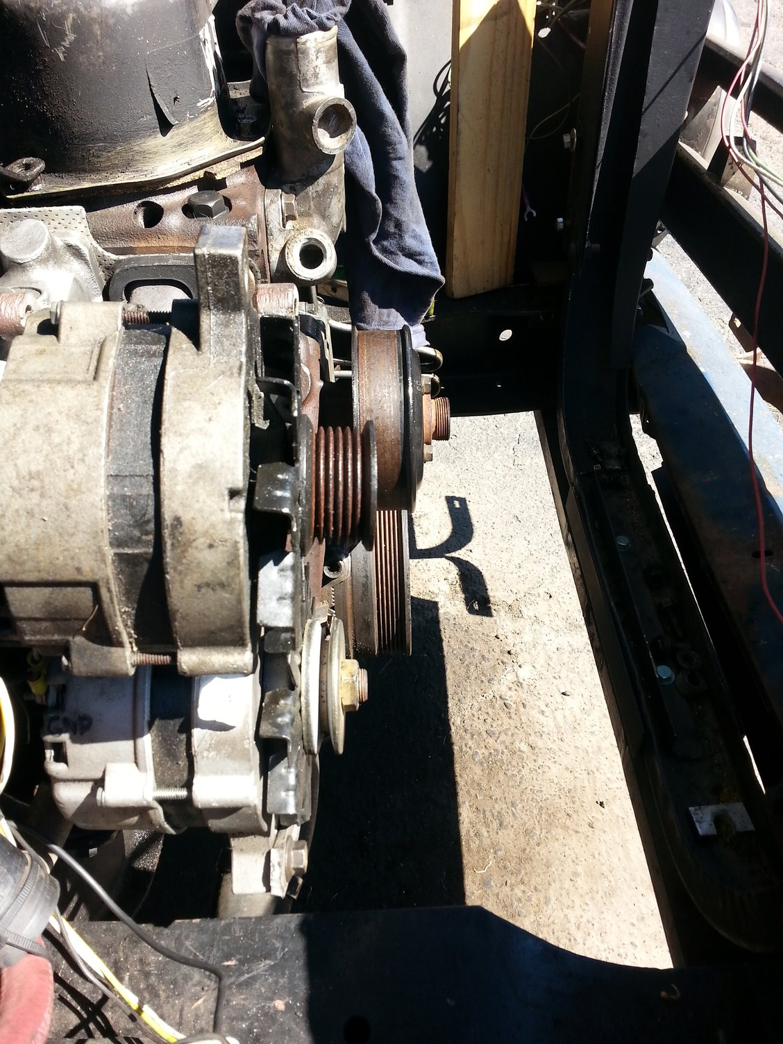 hight resolution of the major issue is that the alternator is sitting back about 1in too far